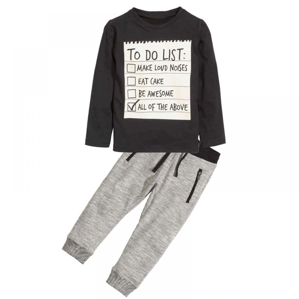 Boys' Long Sleeved Shirt and Jogger Set 23.00 and FREE Shipping Tag a friend who would love this! Active link in BIO #fatherandson #familytime #babystyle #trendykids #motheranddaughter
