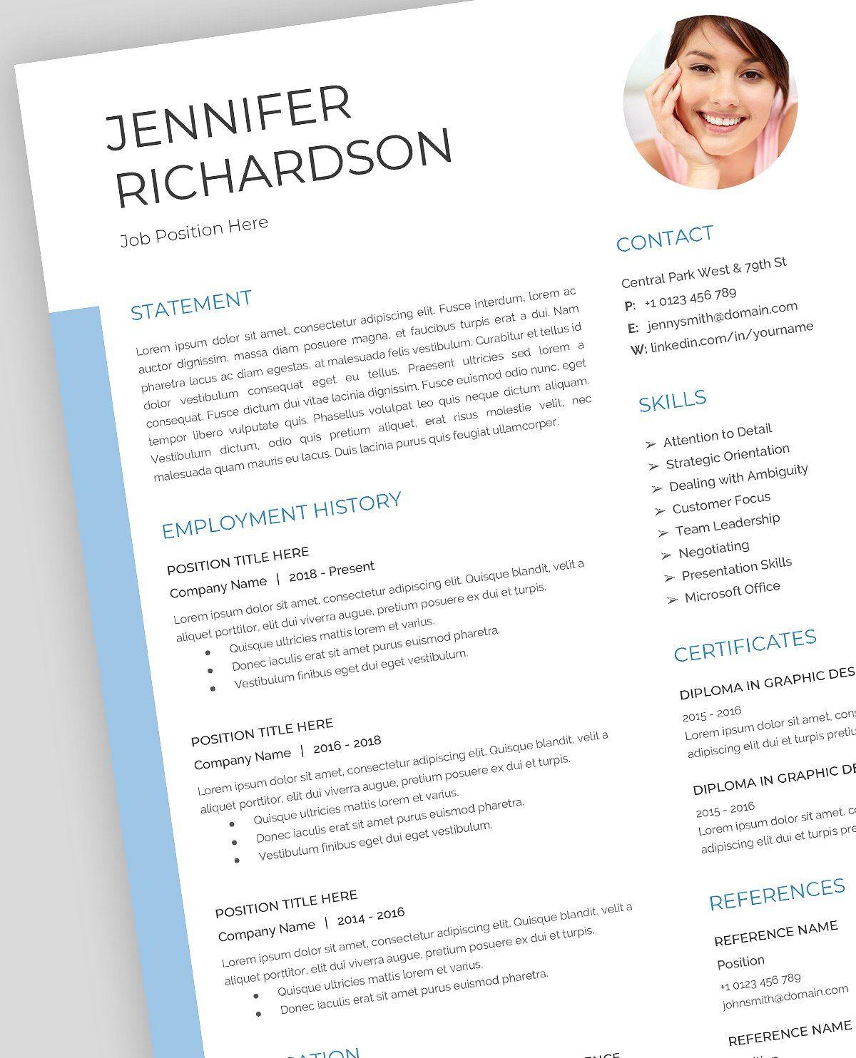 Resume Template, CV, Google Docs Resume template, Resume