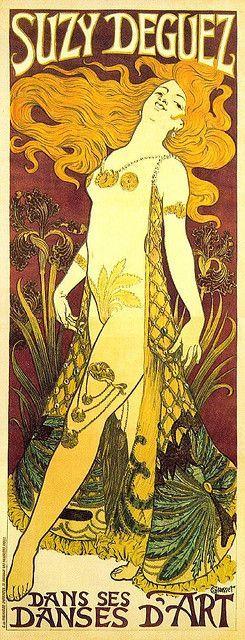 eugene grasset suzi deguez 1905 is part of Art nouveau poster - Eugène Grasset, Suzi Deguez, 1905 artNouveau Carteles