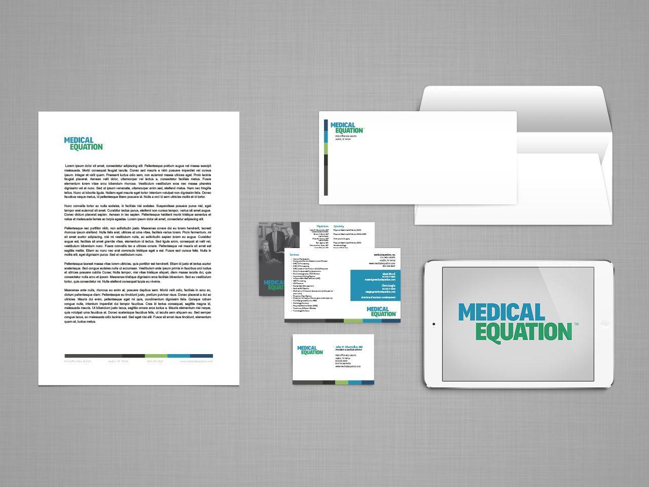 Medical Equation Identity Web Design Marketing Branding Design Web Design