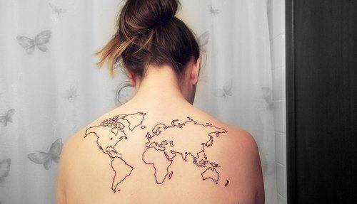 World map henna tattoo inspiration pinterest hennas tattoo world map gumiabroncs Image collections