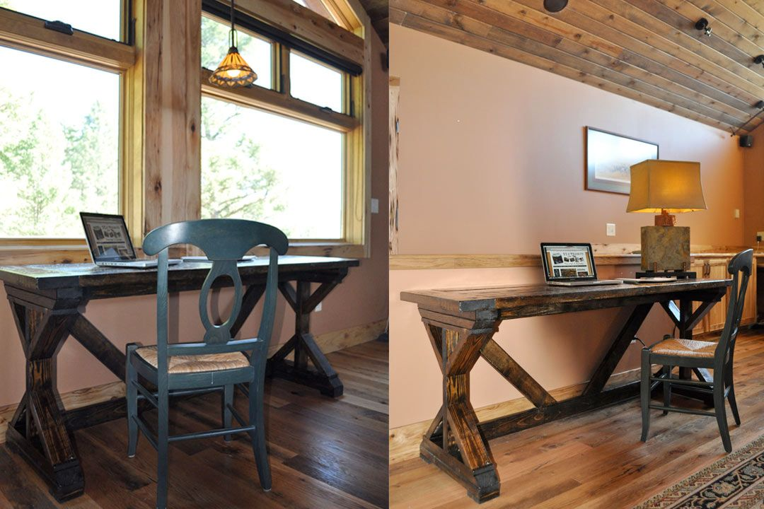 How to Build a Rustic Desk Rustic desk, Built in desk
