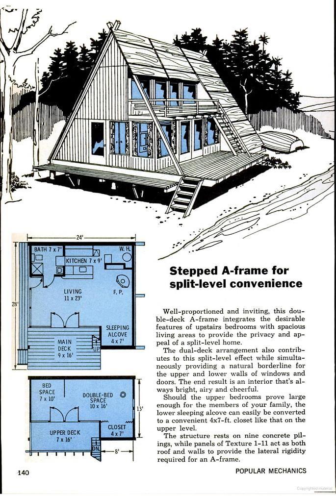 Popular Mechanics Google Books A Frame House A Frame Cabin