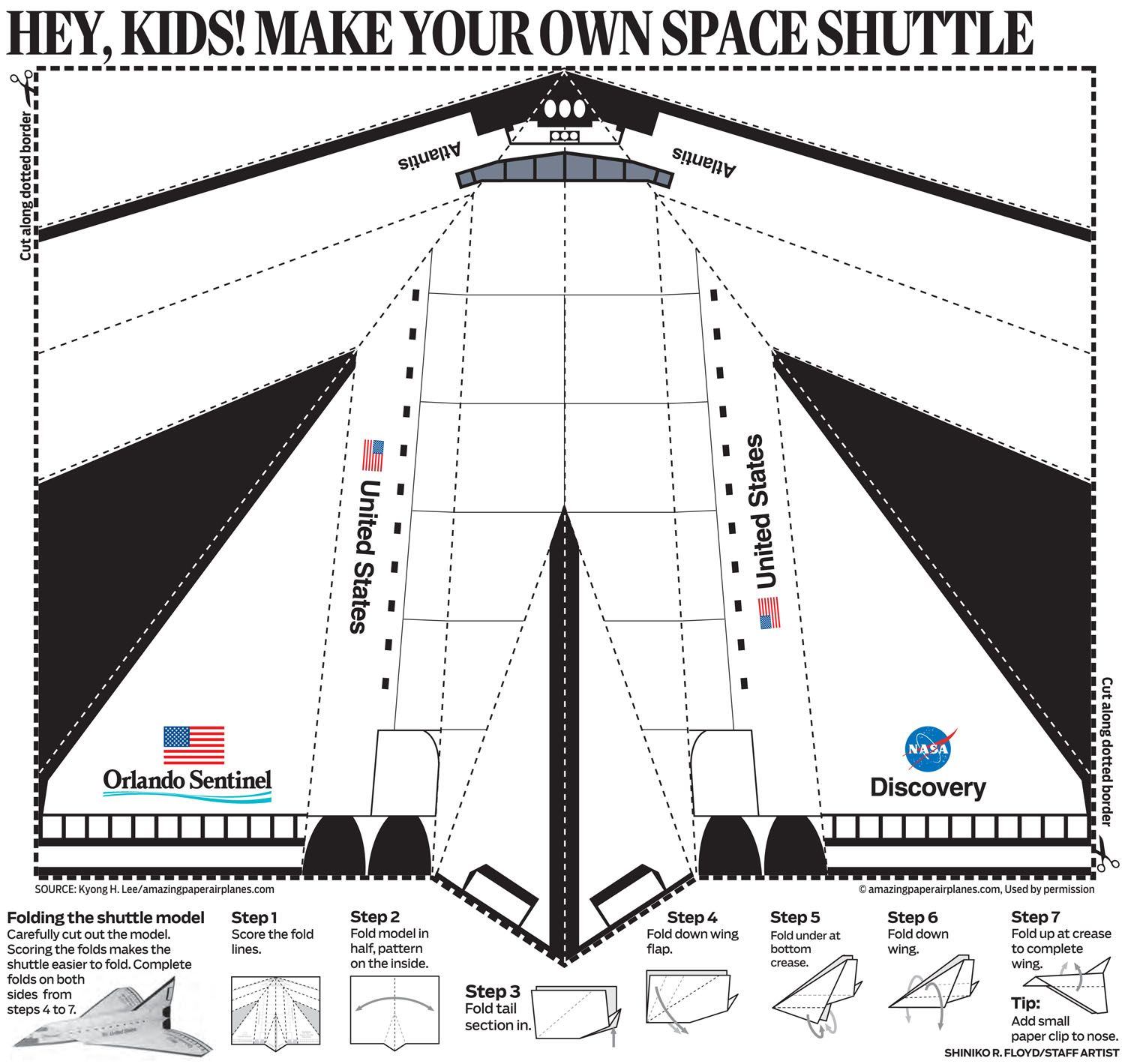 Paper Airplane Printable Template Sheets