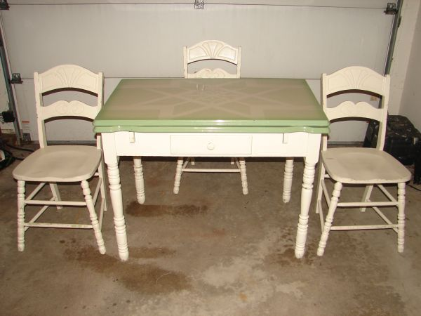 vintage 1930 u0027s porcelain kitchen table with two leafs and three chairs vintage 1930 u0027s porcelain kitchen table with two leafs and three      rh   pinterest com