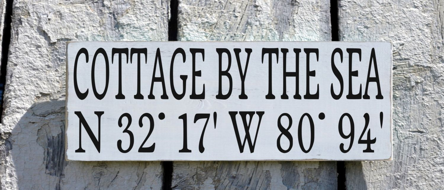 Custom Beach House Wooden Sign, Beach House Name Signs, Latitude Longitude  GPS Map Location Beach Decor Personalized Beach Sign Wood Plaque Cottage By  Sea ...