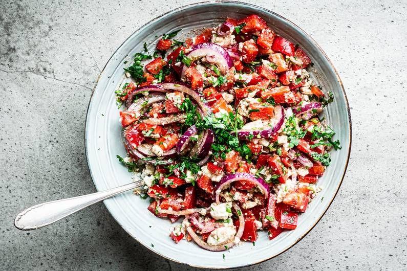 Paprika-Feta-Salat