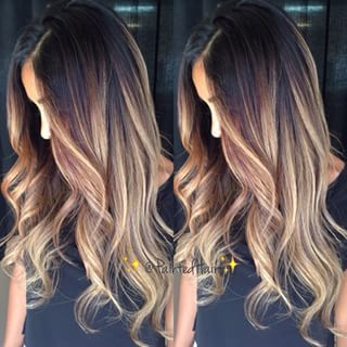 Summer ombré with dark roots. Yes please!