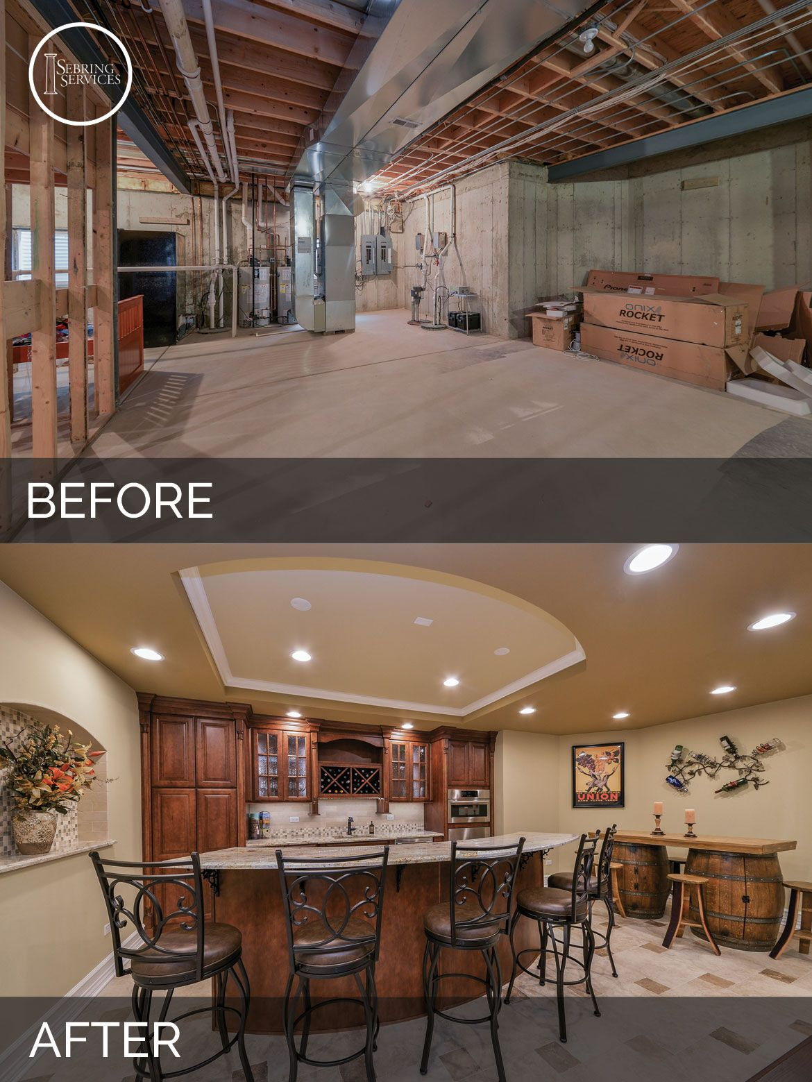 Sujith Vinita S Basement Before After Pictures Finishing