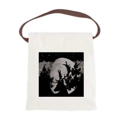 Wild Life at Night Canvas Lunch Bag