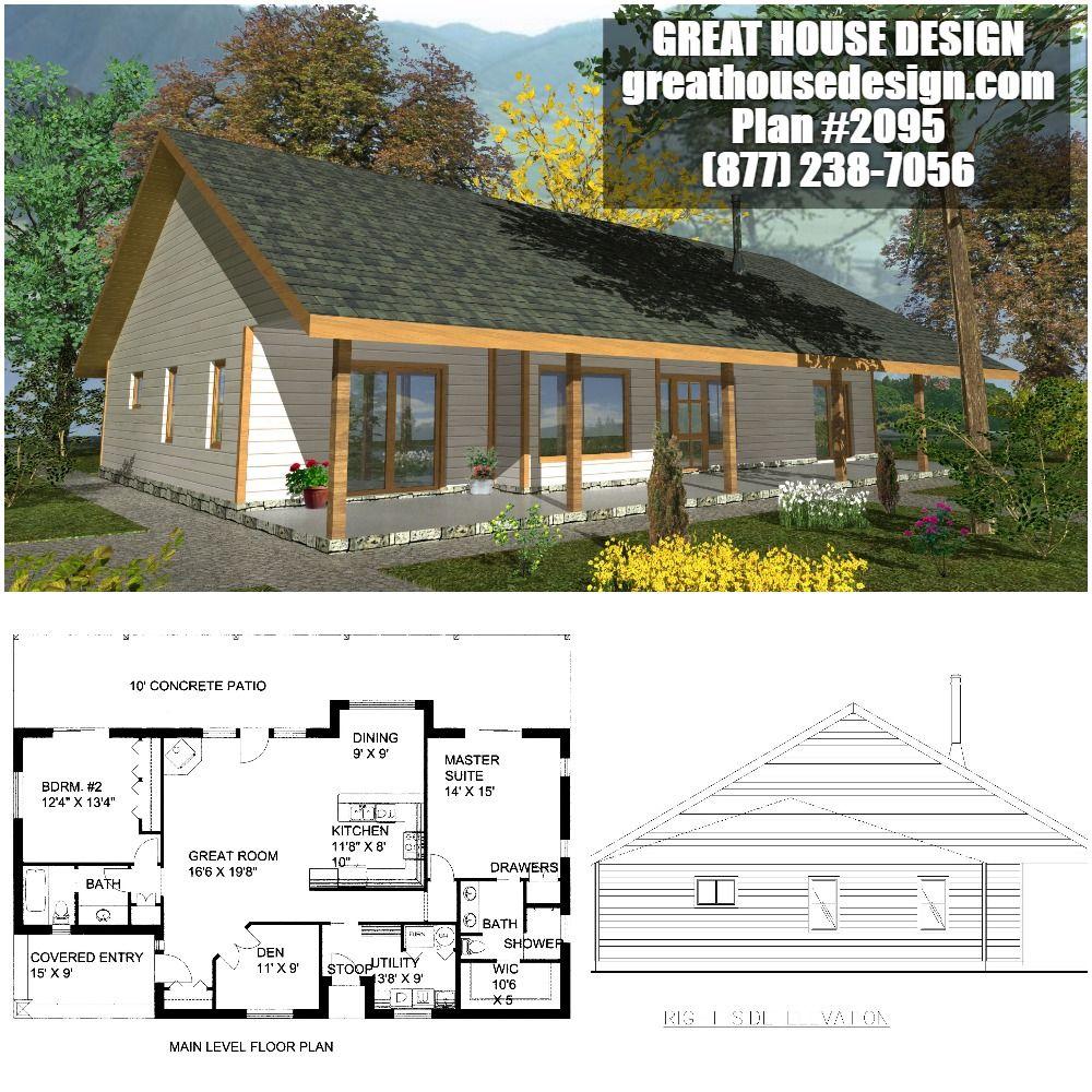 Home Plan 001 2095 Home Plan Great House Design Bungalow House Plans Small Modern House Plans Small House Design