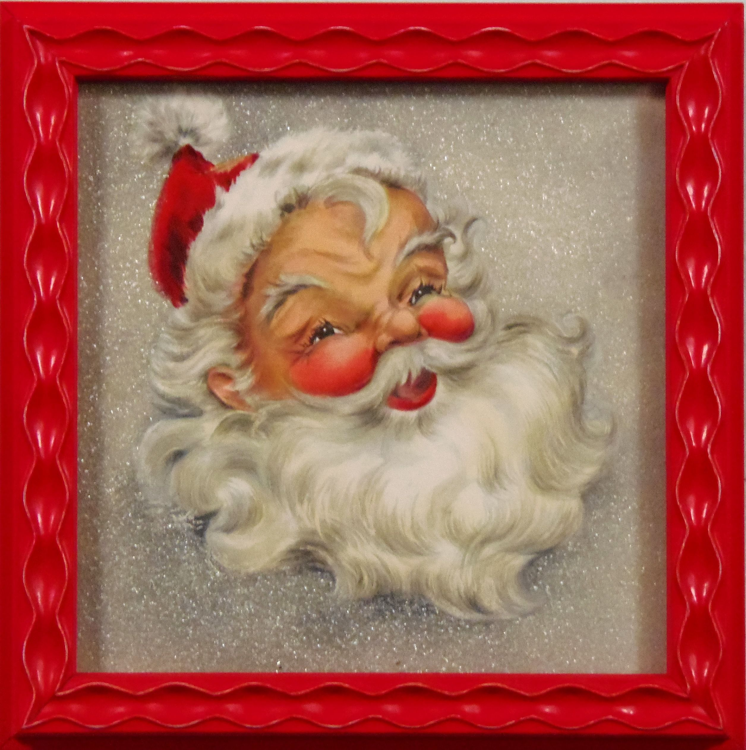 Custom framed santa bradleysaf holiday ideas pinterest custom framed santa bradleysaf jeuxipadfo Choice Image