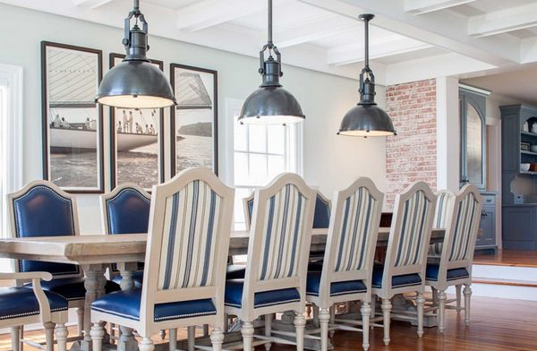20 Nautical Home Decoration In The Dining Room Home Design Lover Nautical Dining Rooms Dining Room Blue Beach House Dining Room