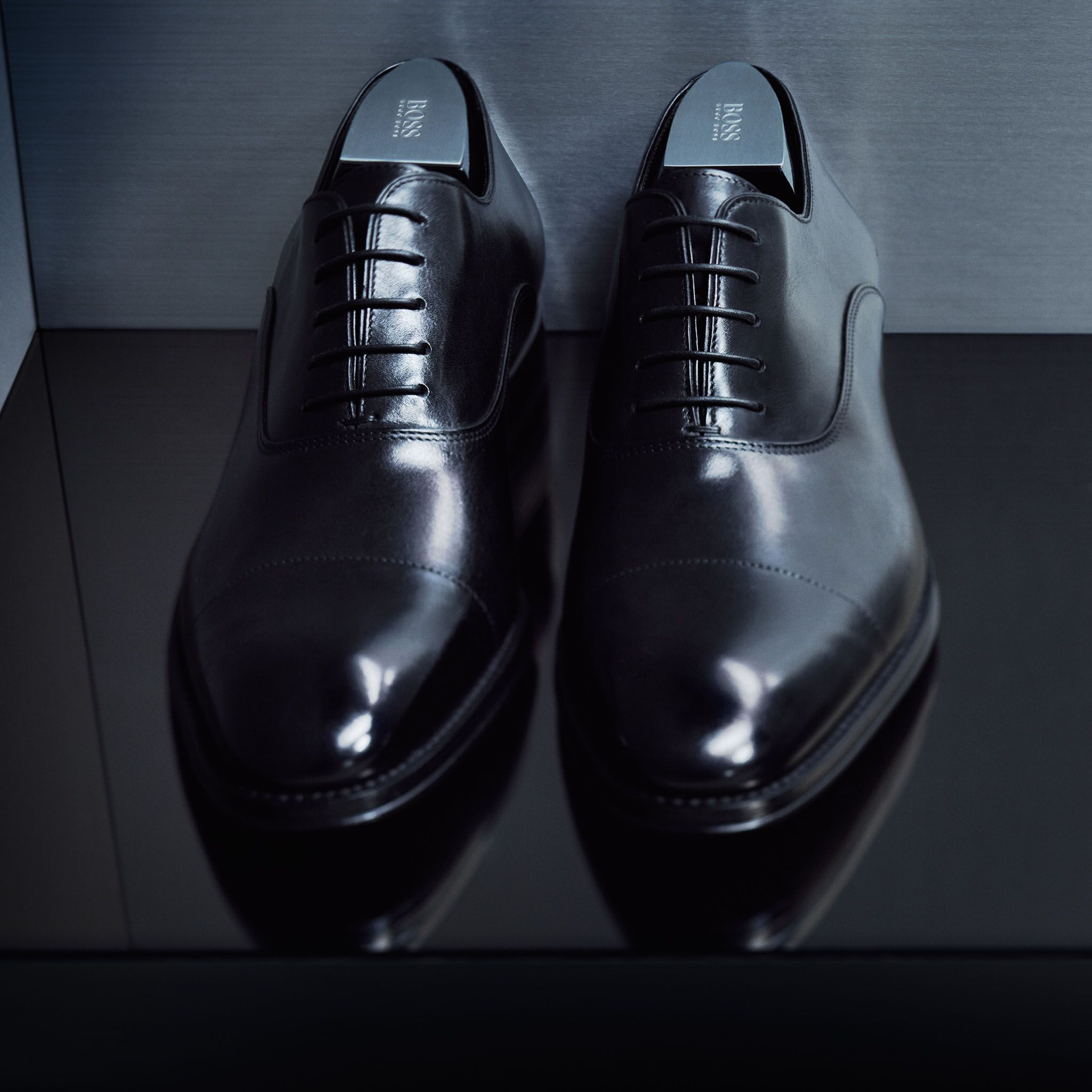 Perfect Polished Leather Oxfords From The Boss Made To Measure Selection Thisisboss Hugo Boss Mens Shoes Dress Shoes Men Leather Brogues