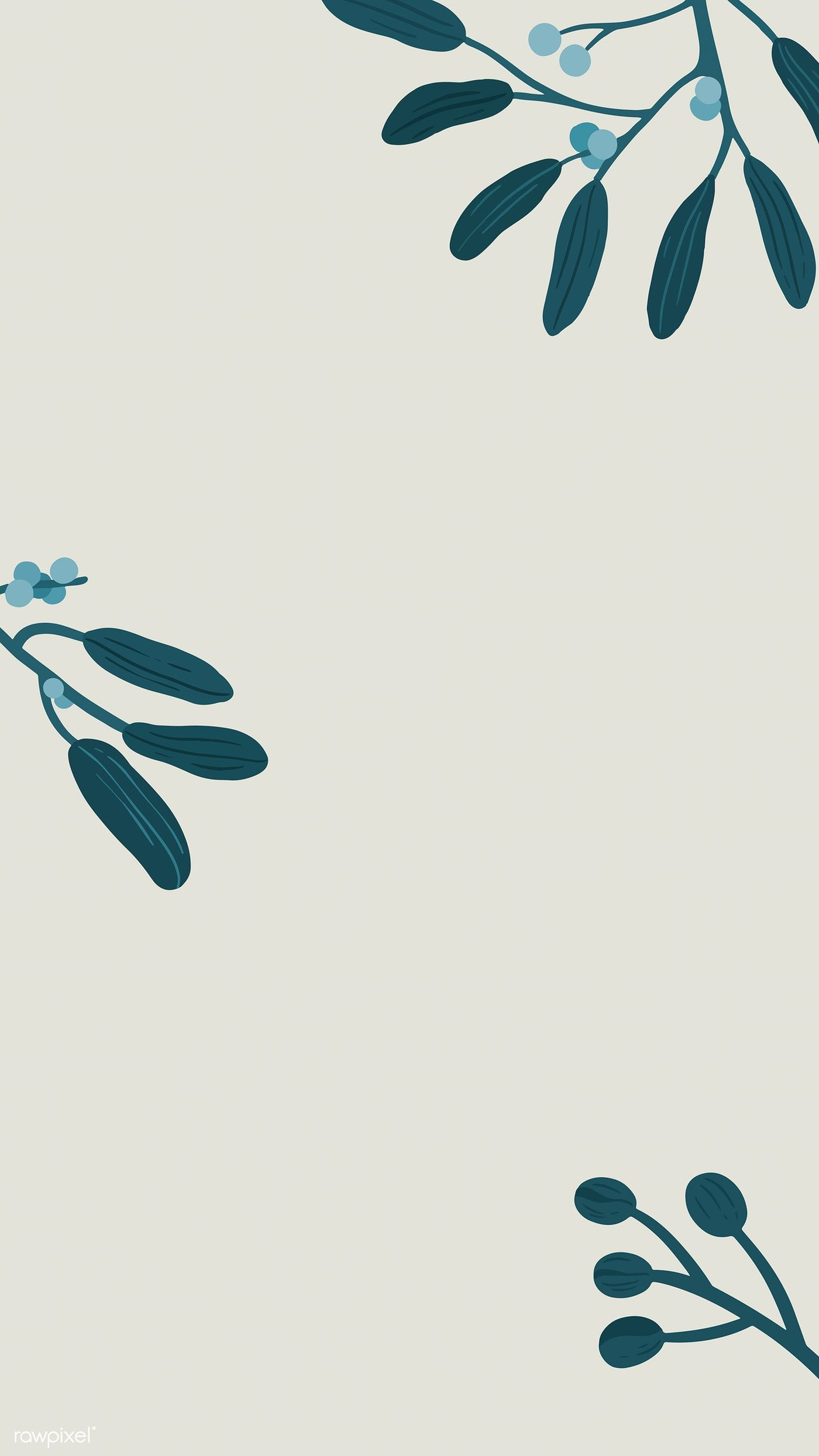 Botanical flower copy space on a gray phone background