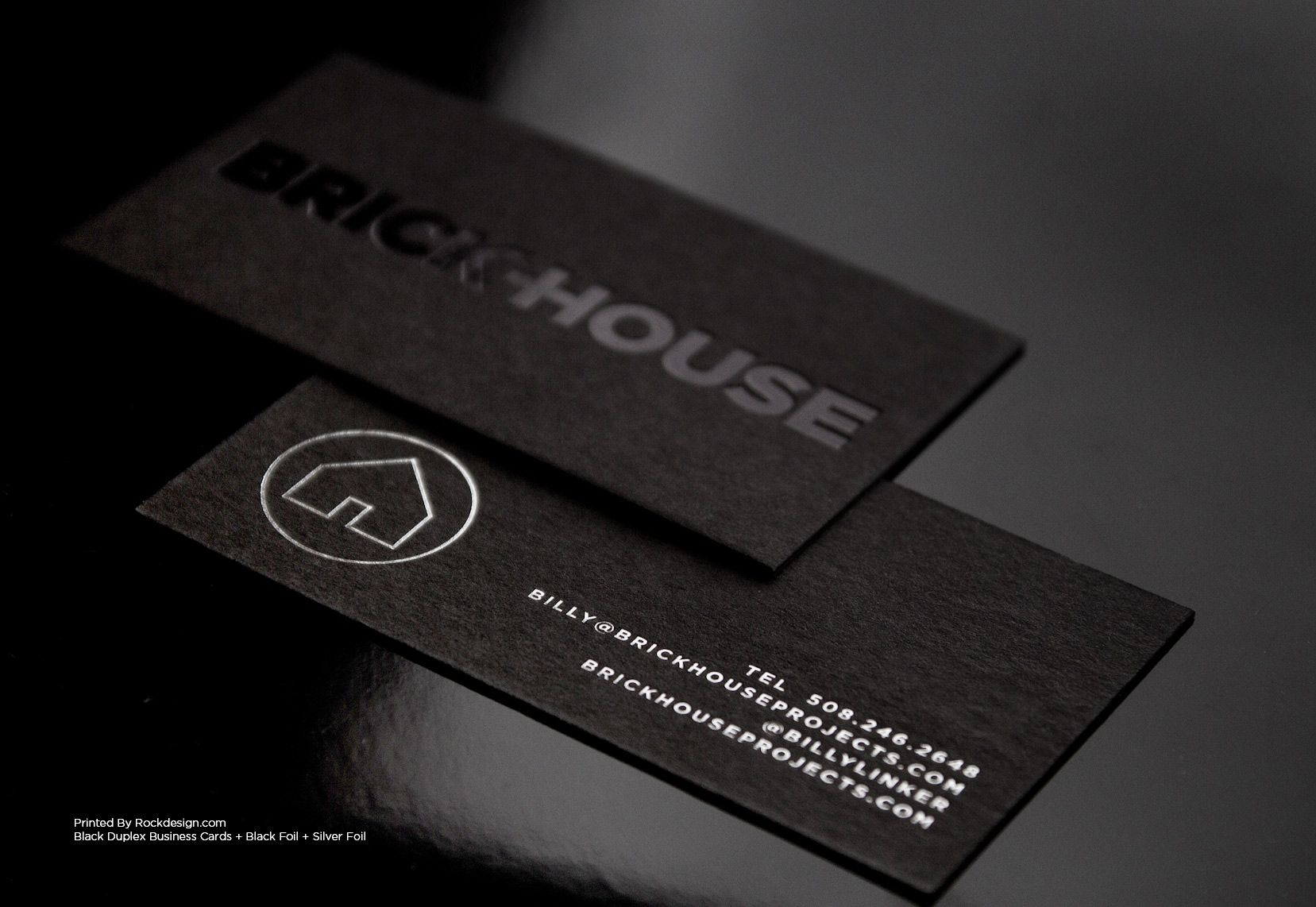 Black and silver foil stamp on black cards biz cards pinterest black and silver foil stamp on black cards magicingreecefo Image collections