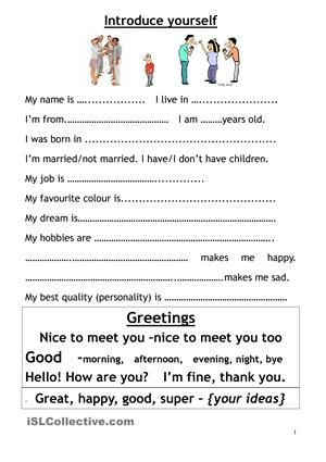 introduce myself  english education  how to introduce yourself  introduce myself