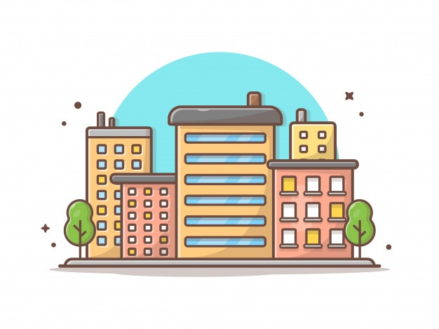 Cityscape Vector Icon Illustration Beautiful Town Buildings And Landmarks Icon Concept Vector Icons Illustration Icon Illustration Vector Icons