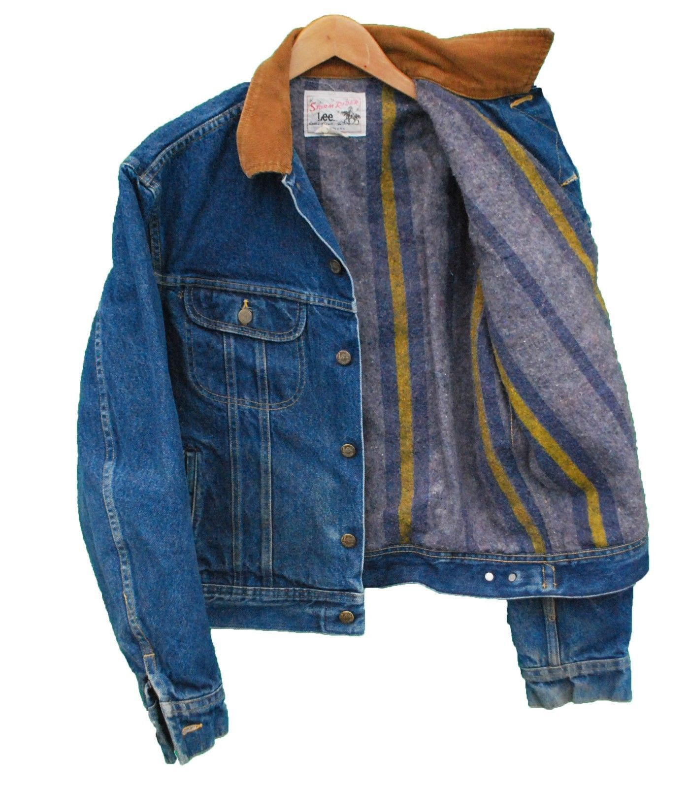 88a993051e9 Vintage LEE Storm Rider Denim Jacket Blanket Lined - L (25082) • £36.00 -  PicClick UK