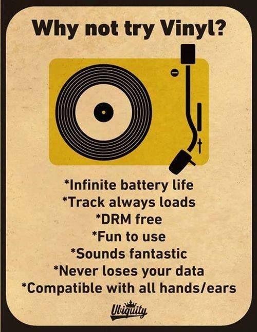 Vinyl is best.