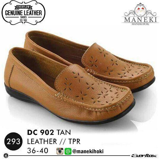 Sepatu Pantofel Wanita Dc 902a Original Everflow Warna Tan Bahan
