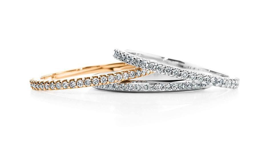 Sehr schmale Diamantringe aus Weißgold Platin Gelbgold oder