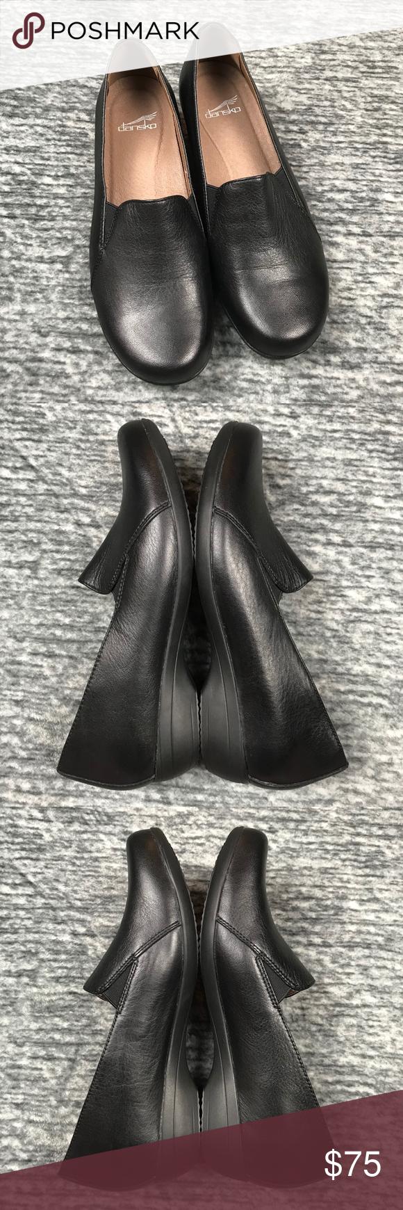 Dansko Leather Farah Black Milled Napa