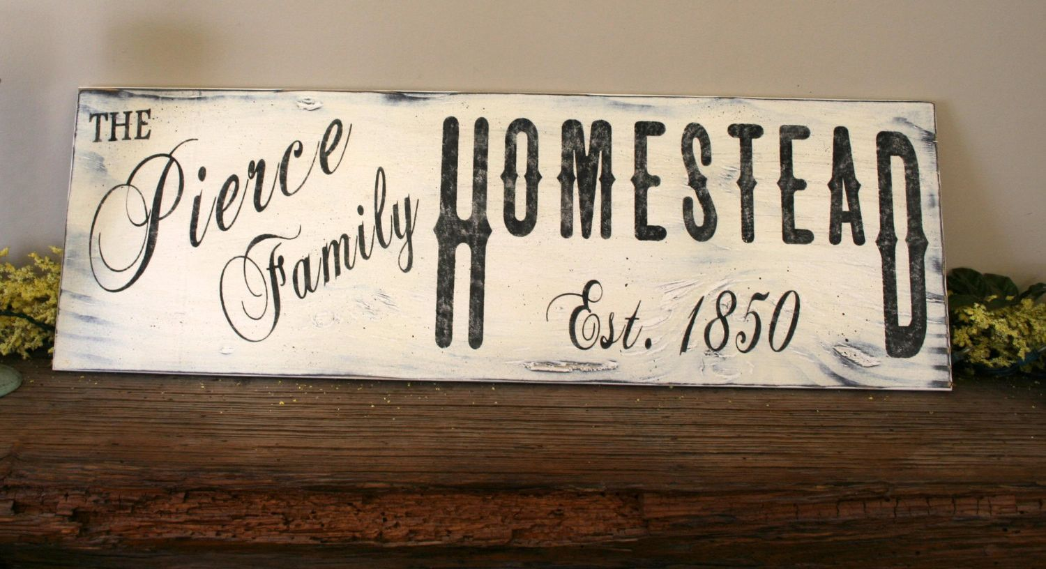 Homestead Personalized Family Sign Signs