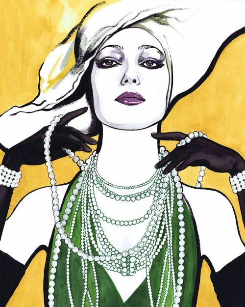 & ldquo; 녹색의 여자 & rdquo.;  머틀 Quillamor.  뉴욕, 2015.