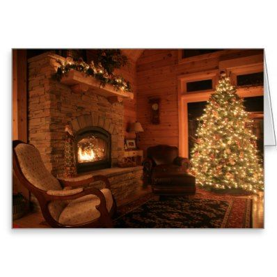 log homes with christmas decorations images - Google Search