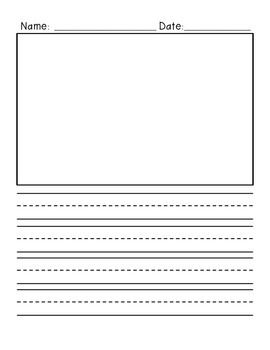 FreebiePrimary Writing Paper Vertical Design With Illustration