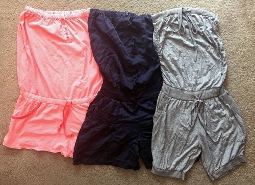 46.71$  Buy here - http://vimky.justgood.pw/vig/item.php?t=ew8audh53501 - Lot of 3 Women Strapless Shorts Romper Set • Size Small • European • FREE SHIP 46.71$