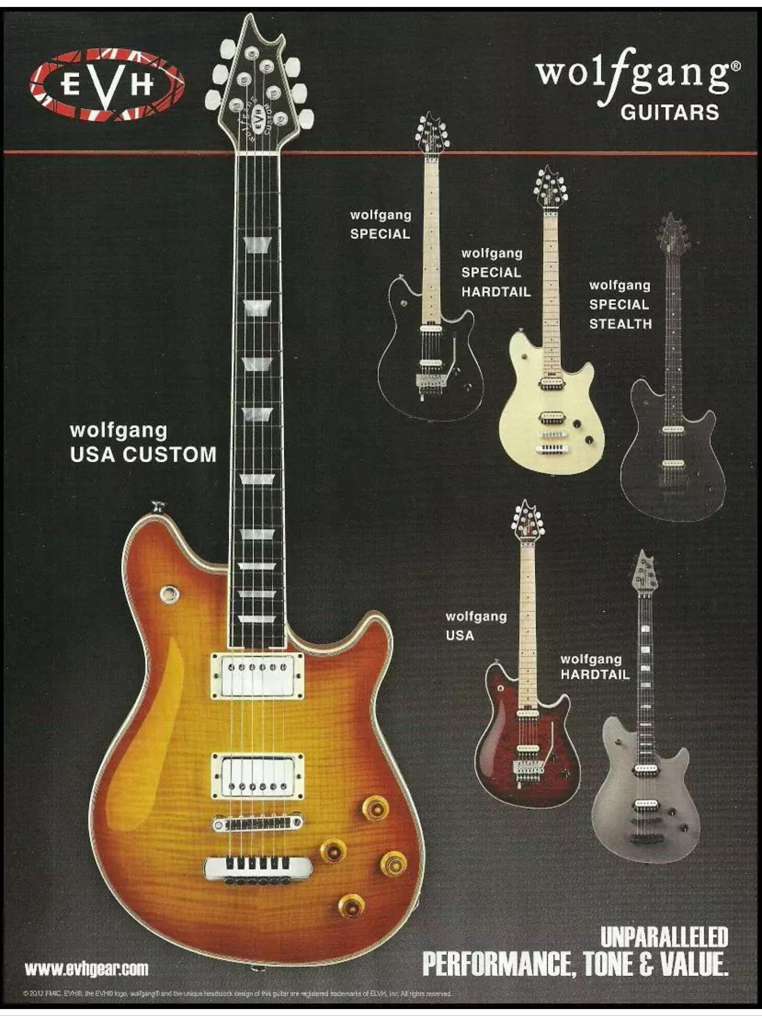 Evh Wolfgang Guitars Guitar Boutique Guitar Cool Guitar