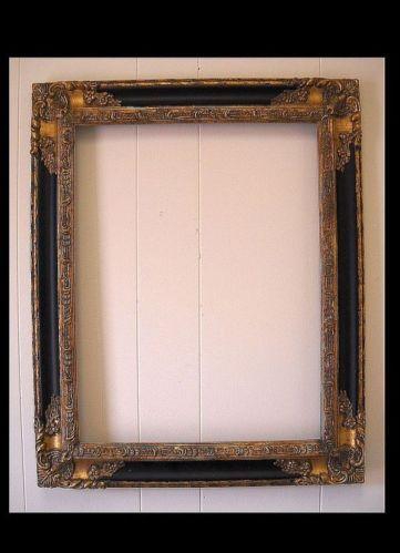 PICTURE FRAME- antique gold & black ORNATE- 12x16 #1238 | Antique ...