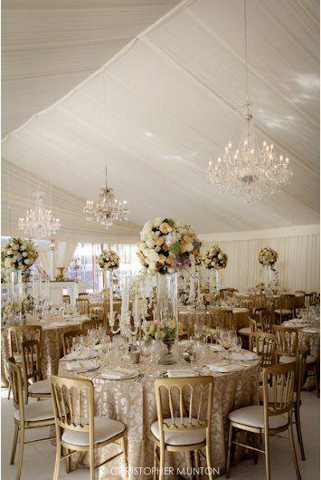 decoracion de boda de color dorado con blanco. #bodavintage | boda