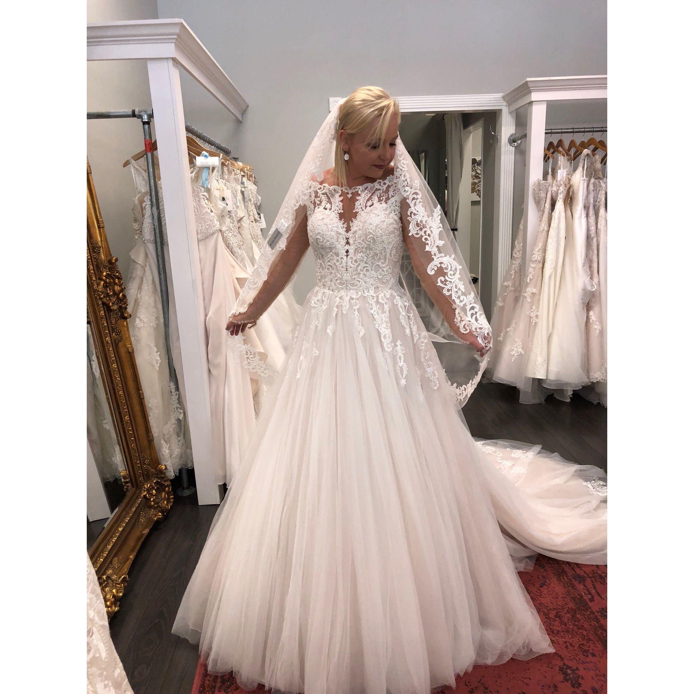 Essense of australia longsleeve ballgown at i do bridal