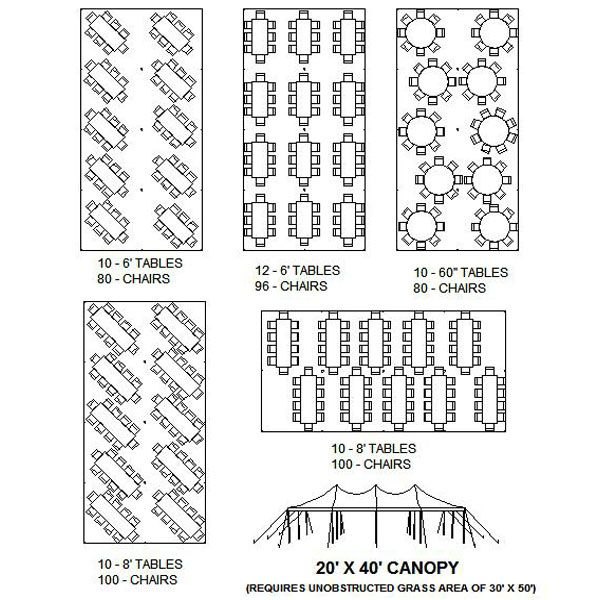 Seating arrangements for a 20x40 ft tent  sc 1 st  Pinterest & Seating arrangements for a 20x40 ft tent | All things wedding ...