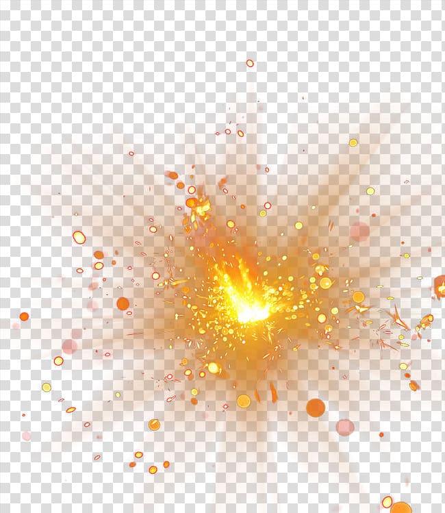 Explosion Spot Light Effect Orange Designed Transparent Background Png Clipart Free Clip Art Clip Art Light Effect