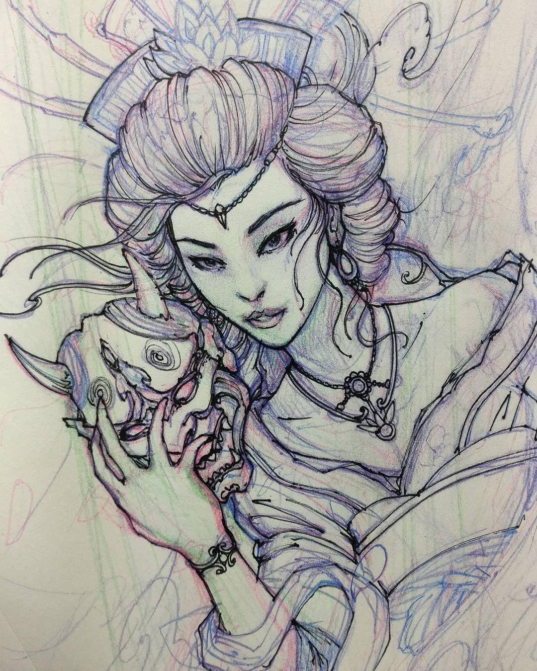 Pin von Hb Turner auf asia | Pinterest | Tattoos zeichnen ...