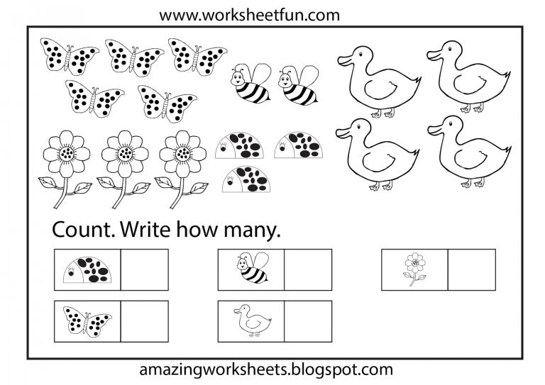 English Worksheets Free Math Coloring Printable Kindergarten
