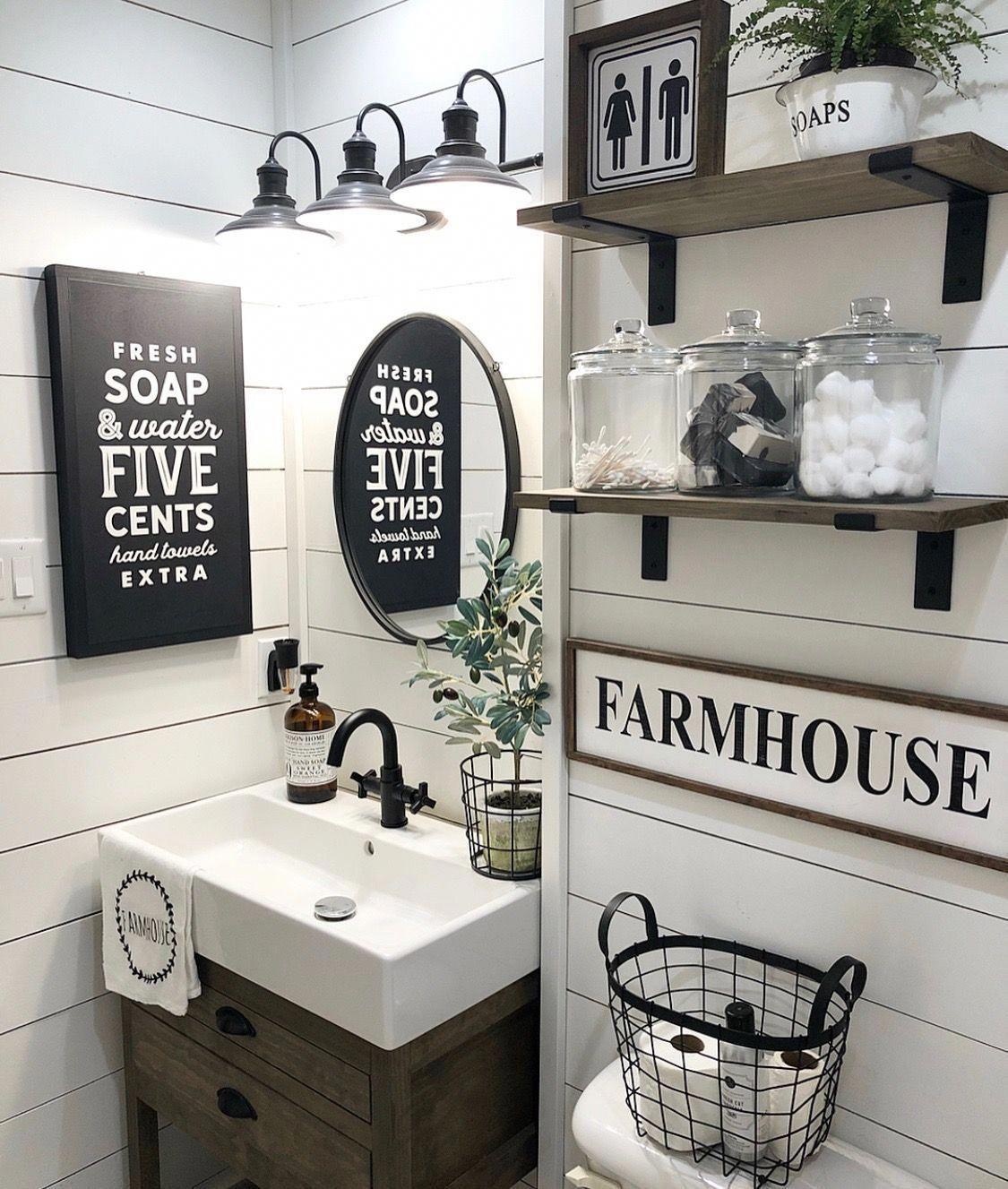 Decorating Ideas Above Toilet Decoratingideas Bathroom Farmhouse Style Small Bathroom Decor Farmhouse Bathroom Decor