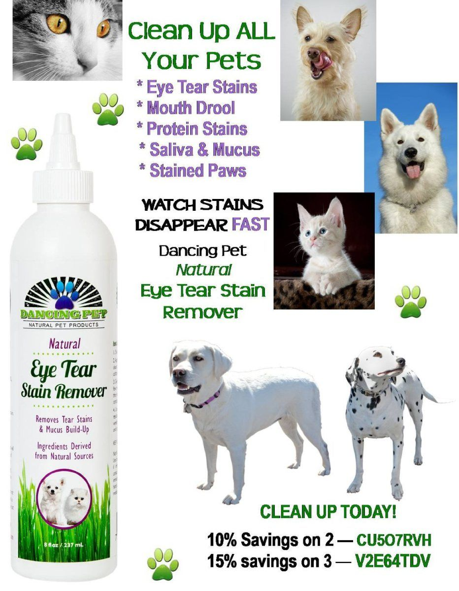 Get rid of tear stains on your pet the natural way