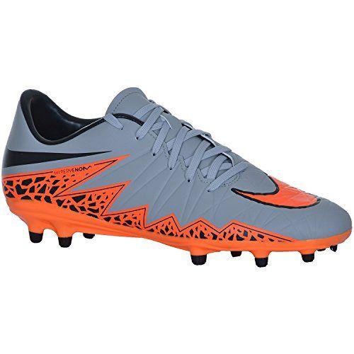 Nike-Hypervenom-Phelon-II-FG-Soccer-Cleat-Wolf-Grey-Total-Orange-Sz-9-0