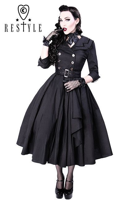 1c09f615602 ReStyle R-22 COAT DRESS Made of thick black cotton with 5% elastane ...