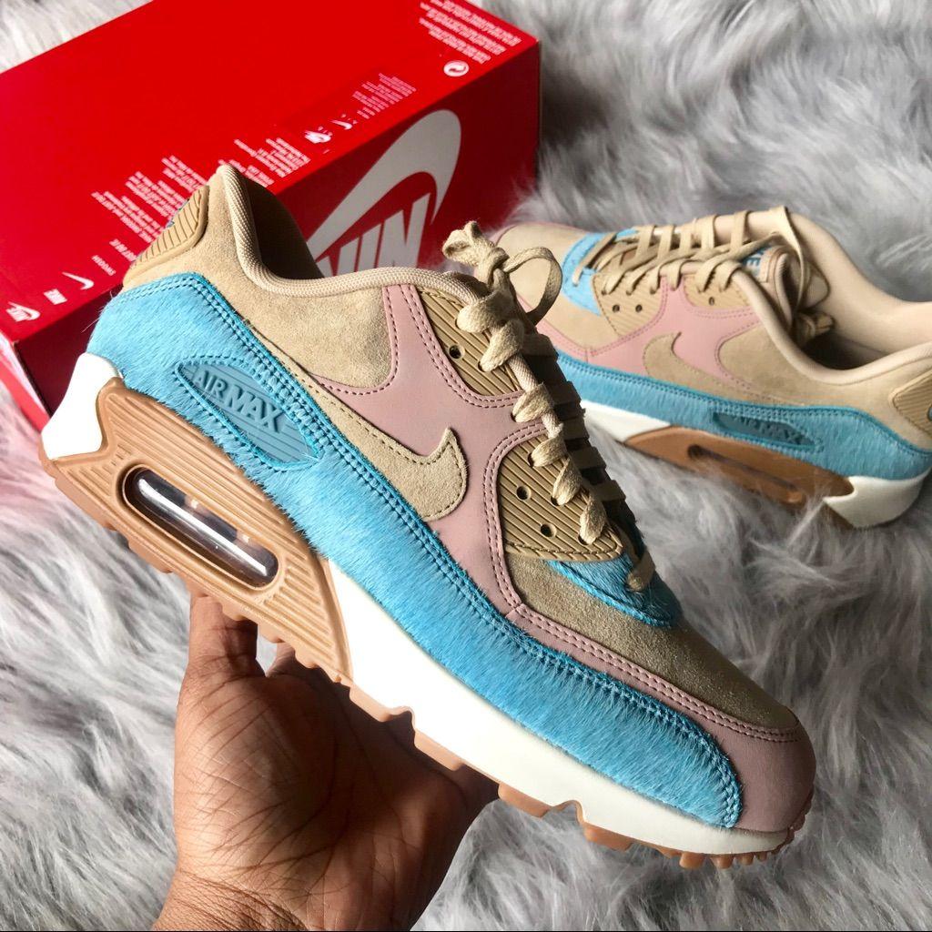 Lifestyle Shoes | Nike Air Max 90 LX MushroomSmokey Blue