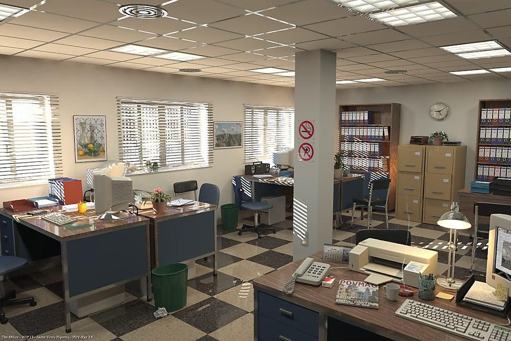 90s Office Interior, Office furniture stores, Office