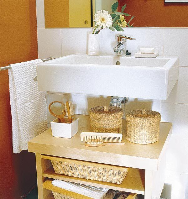 Ocho lavabos para baños pequeños   Storage