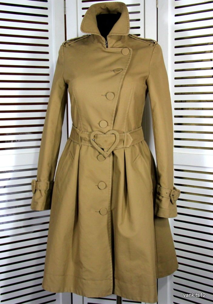 STUNNING VIKTOR   ROLF FOR H M WOMAN S TAN TRENCH COAT SIZE US 4 EUR ... 39044dd7b55