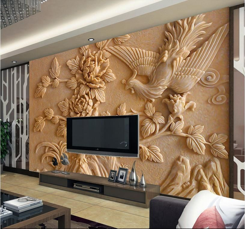 Find More Wallpapers Information About Europea 3d Wall Murals Wallpaper, Photo Relief Phoenix
