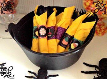 halloween: portatovaglioli fai da te - filastrocche.it